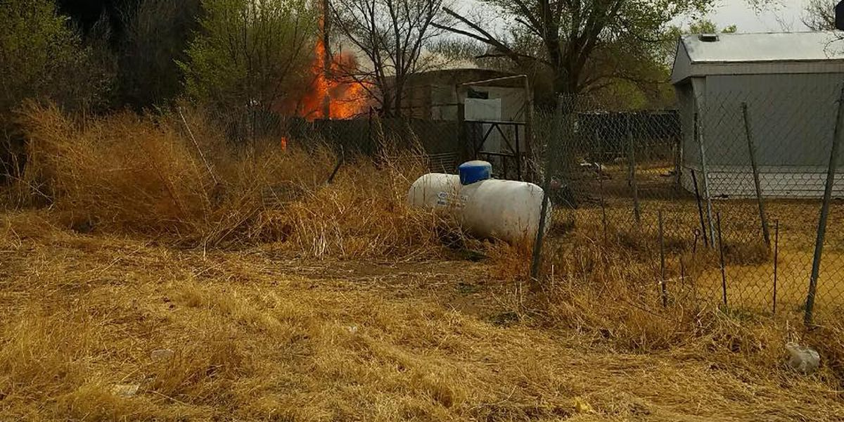 Crews working to tame grass fire in Northwest Lubbock County