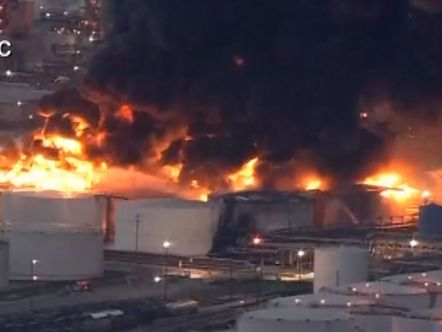 Fire spreads at a Houston-area petrochemicals terminal