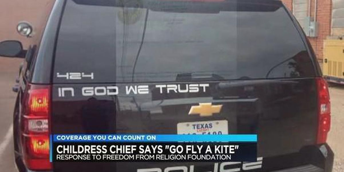 TX lawmakers support Childress Police Chief who told Freedom From Religion Foundation to 'go fly a kite'