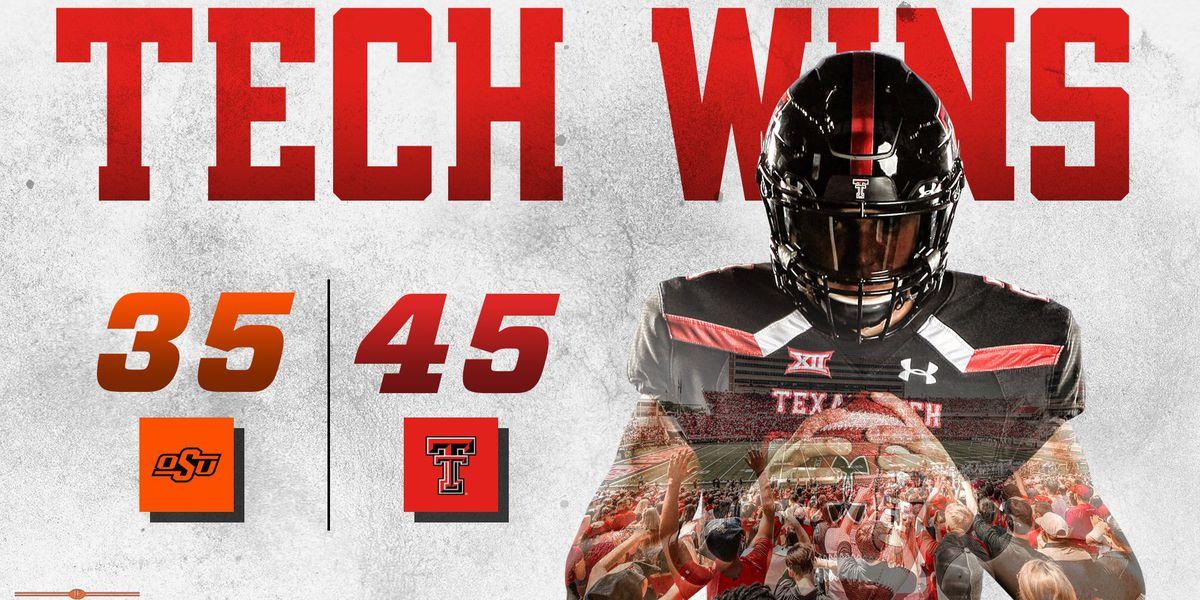 Red Raiders take flight with Jett Duffey, upset #21 Oklahoma State 45-35