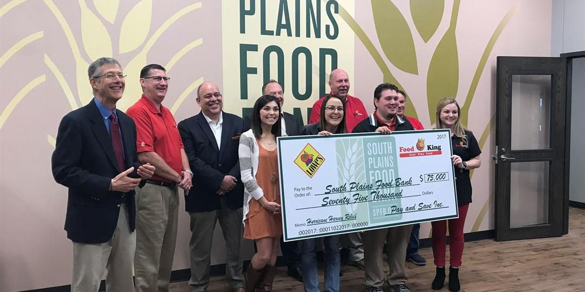 Food King raises $75,000 to aid food bank in ongoing Hurricane Harvey relief efforts