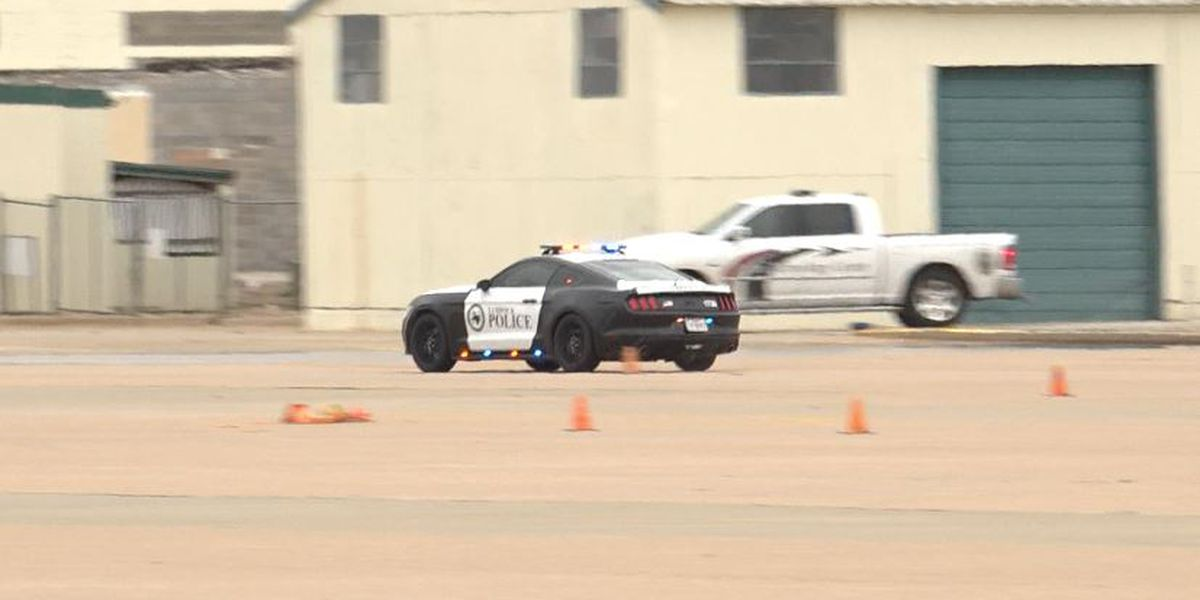 Lubbock police officers take bi-annual driving recertification course
