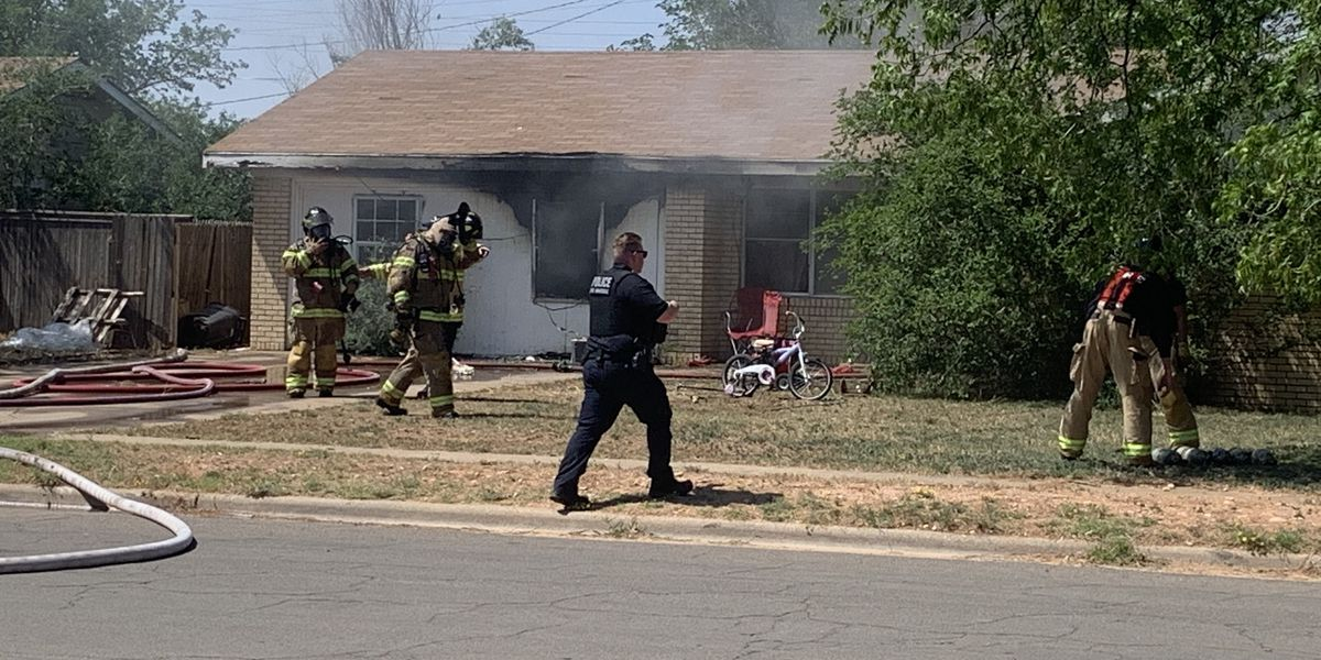 Fire damages home in North Lubbock