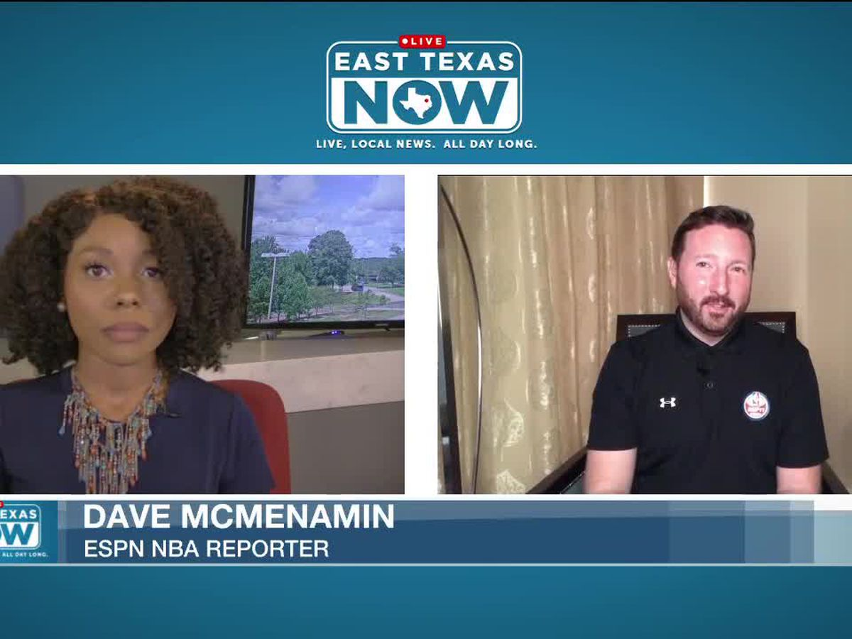 WATCH: NBA reporter talks to East Texas Now from inside the bubble