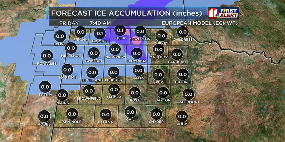 Deteriorating South Plains weather and road conditions expected