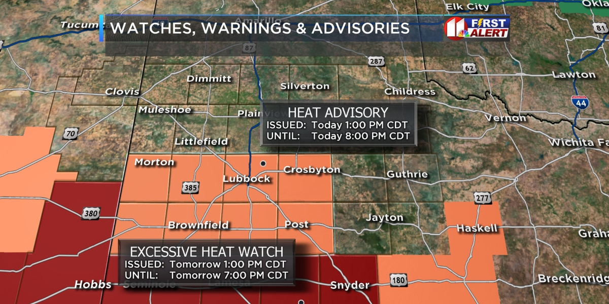 Heat advisory continues Monday