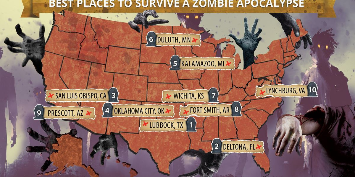 Lubbock rated best place to survive a zombie apocalypse