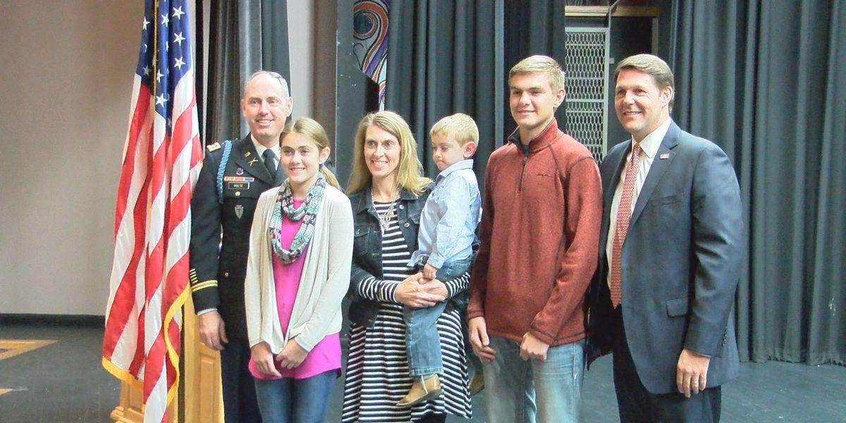 Congressman Arrington helps honor Shallowater High School Assistant Principal