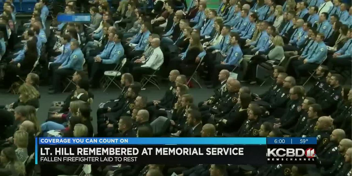 Firefighter Eric Hill remembered at memorial service