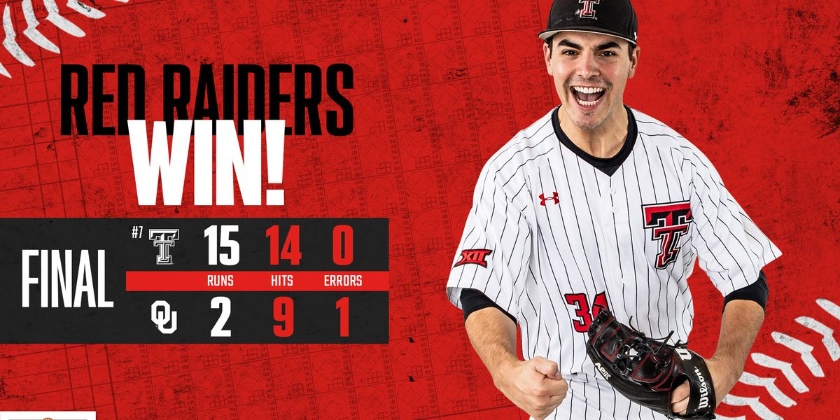 Texas Tech baseball bounces back in game 2 vs. Oklahoma