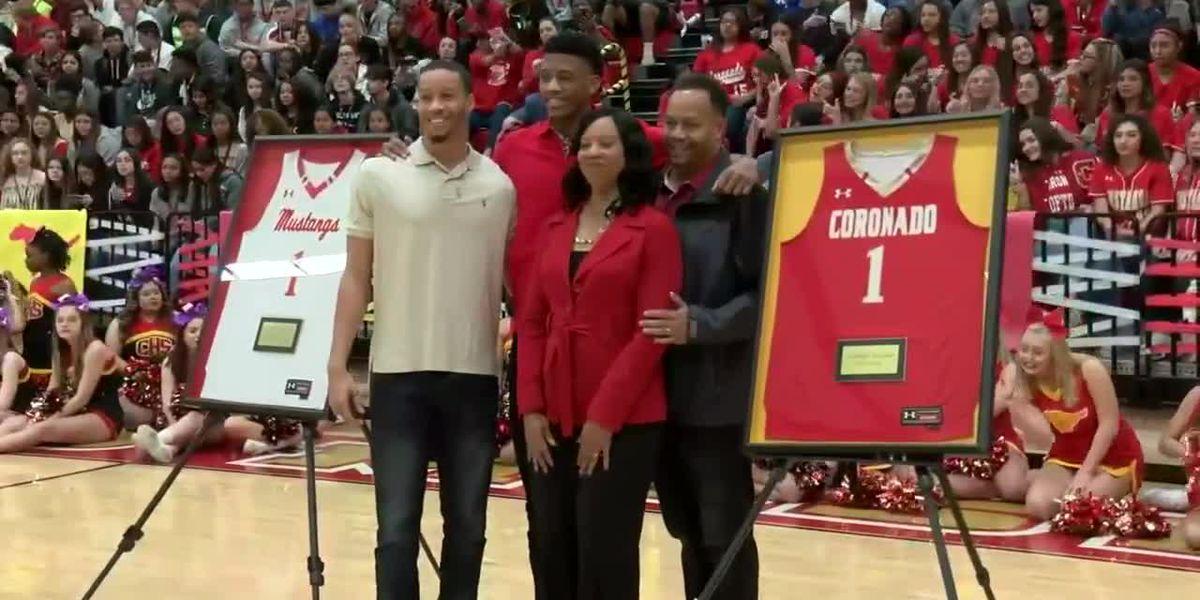 Coronado retires Jarrett Culver's high school jersey