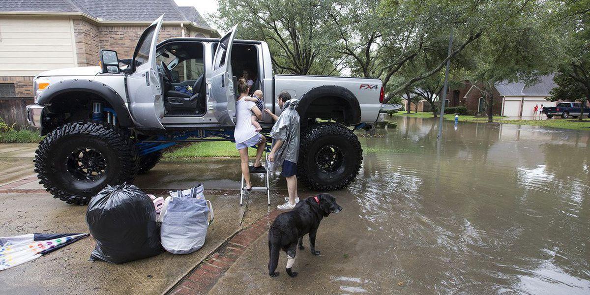 In Harvey-swamped Houston, rescues by canoe, kayak —even monster truck