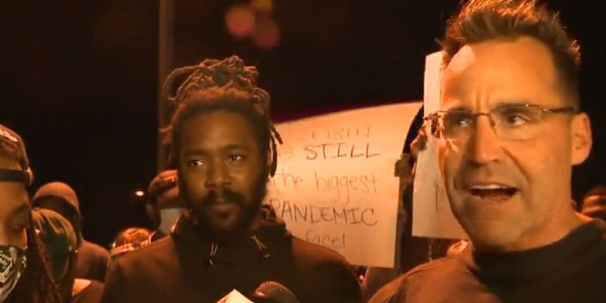 Michigan sheriff joins protesters during march over George Floyd's death