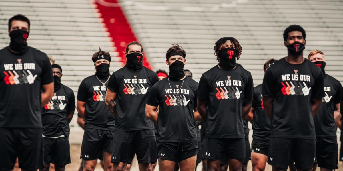 Red Raider football players ask fans for respect as they join protest