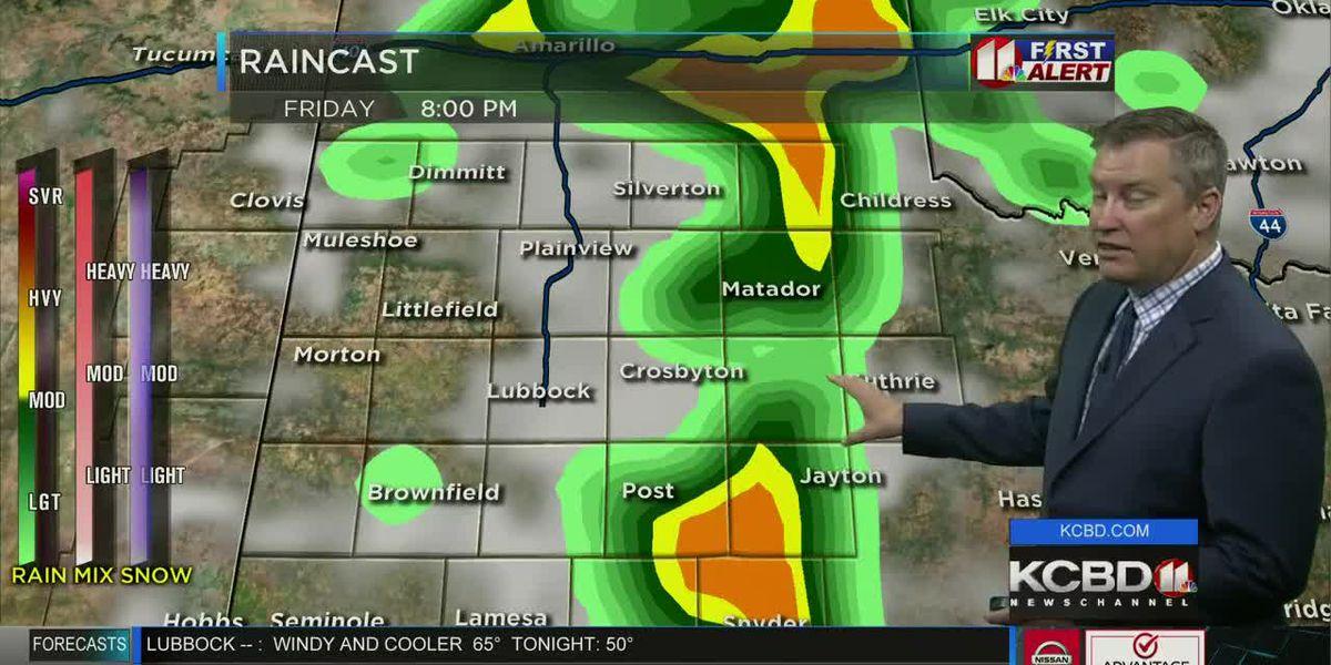 Cooler Thursday, Storms return Friday