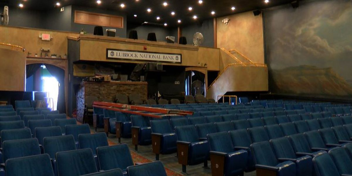 Cactus Theatre repairing water damage from burst pipes