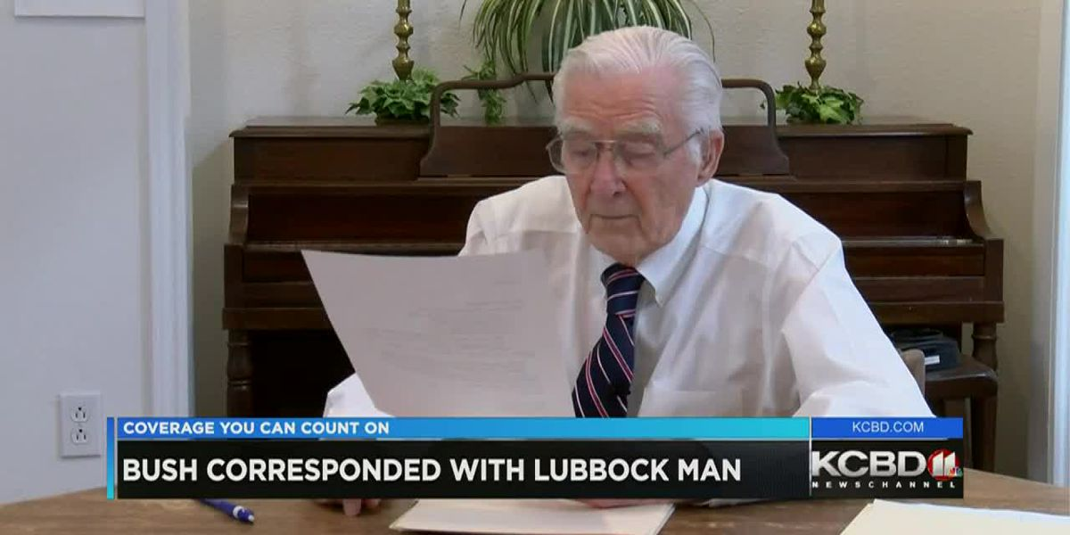 Lubbock man shares letters exchanged with George H. W. Bush