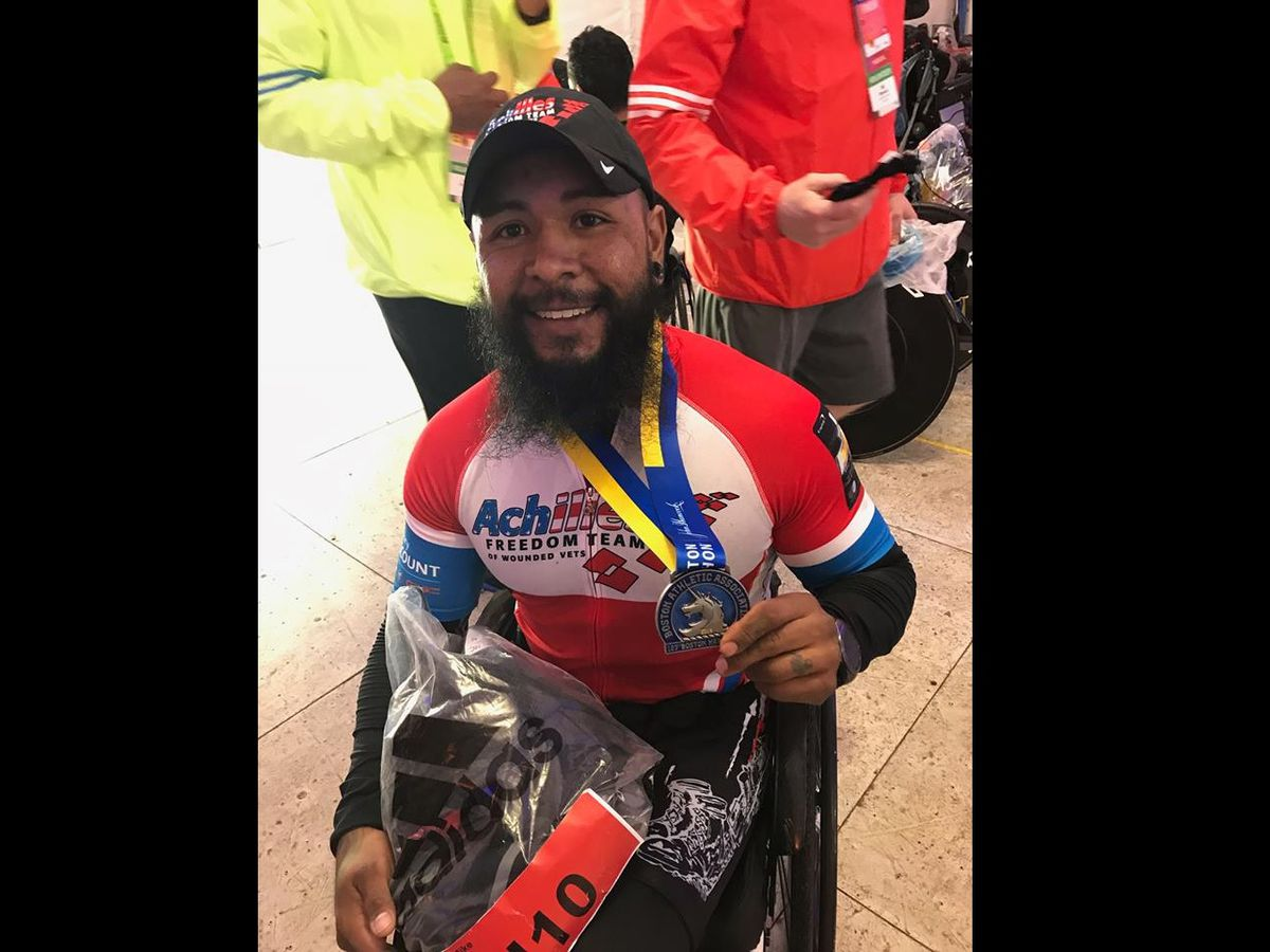 Lubbock veteran places 8th in Boston Marathon handcycle race