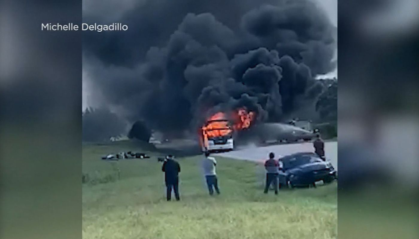 Bus catches fire in Texas on way back from church youth camp