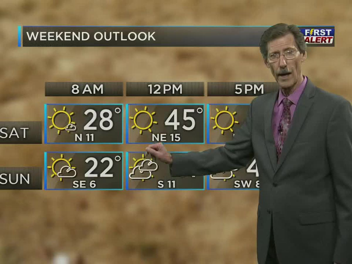 Chilly, dry weekend expected