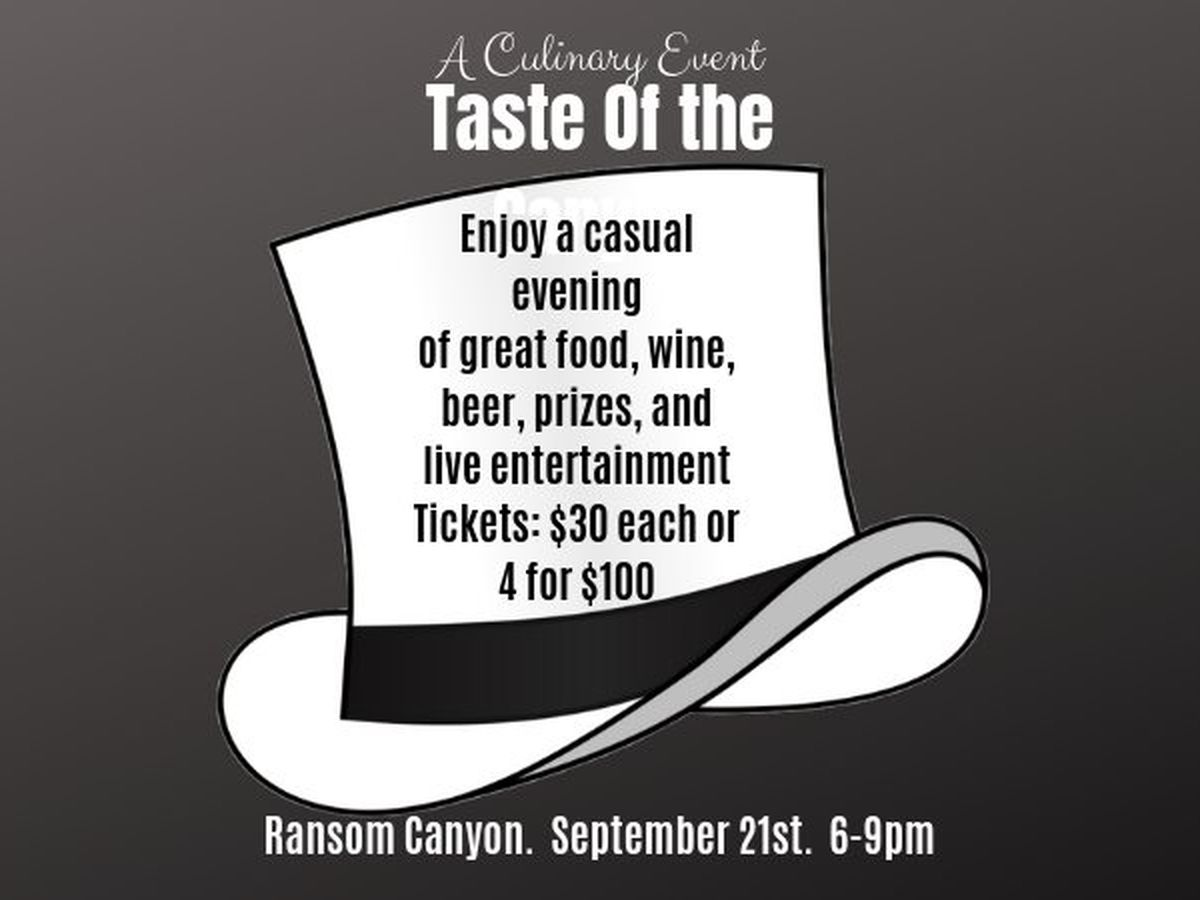 Taste of the Canyon takes place Saturday in Ransom Canyon