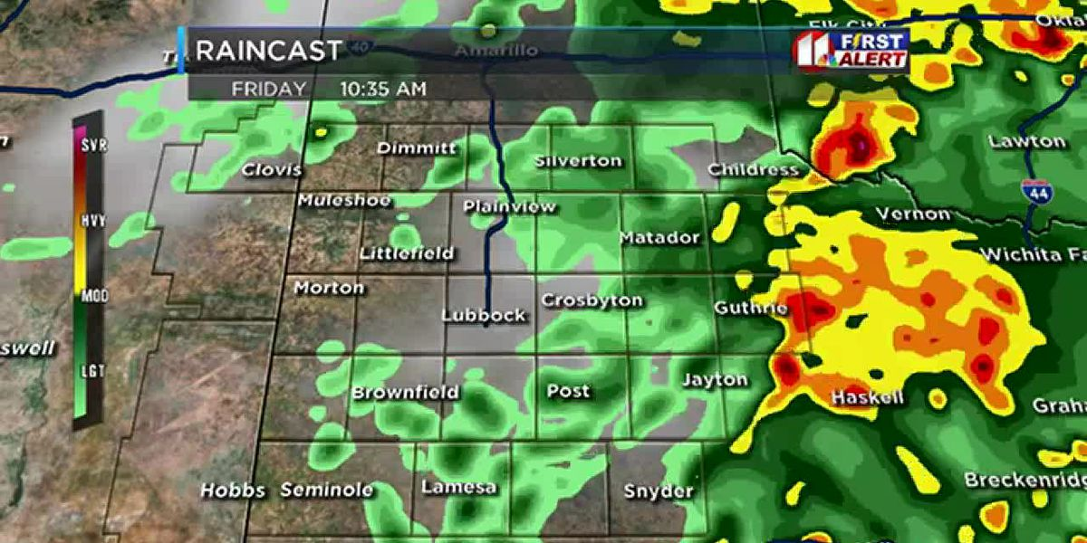 Rains anticipated throughout Friday all over South Plains
