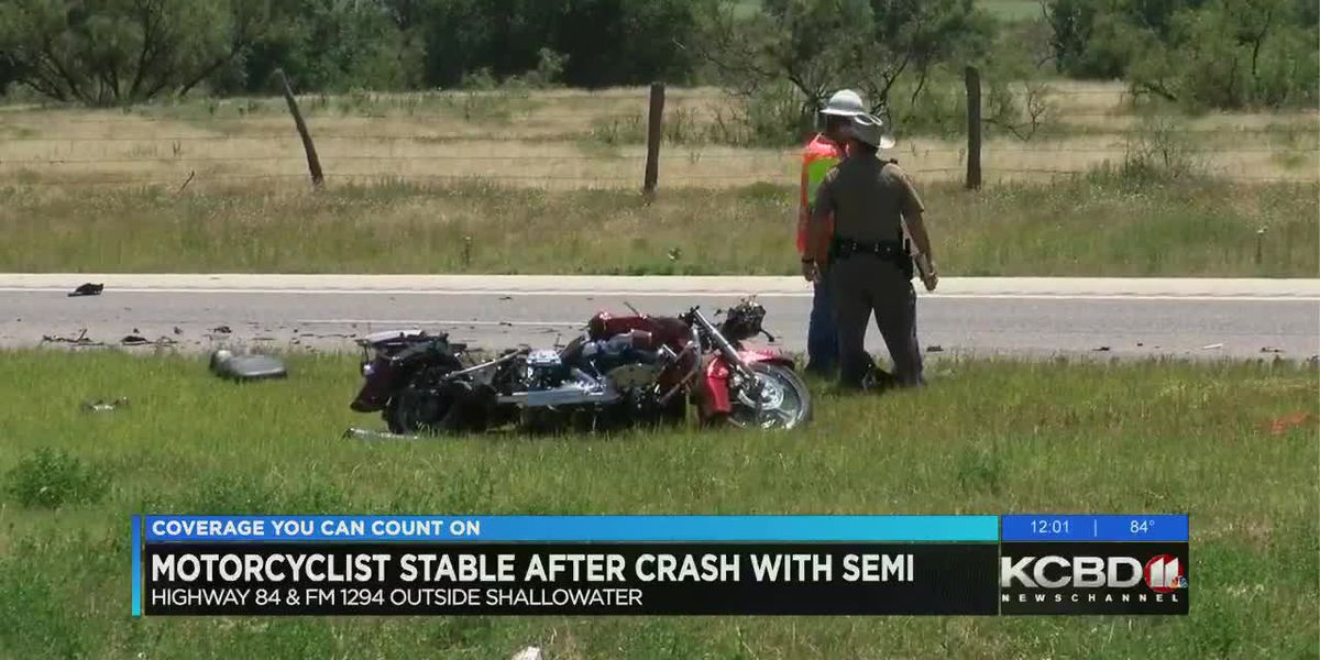 Motorcyclist in stable condition after Sunday crash