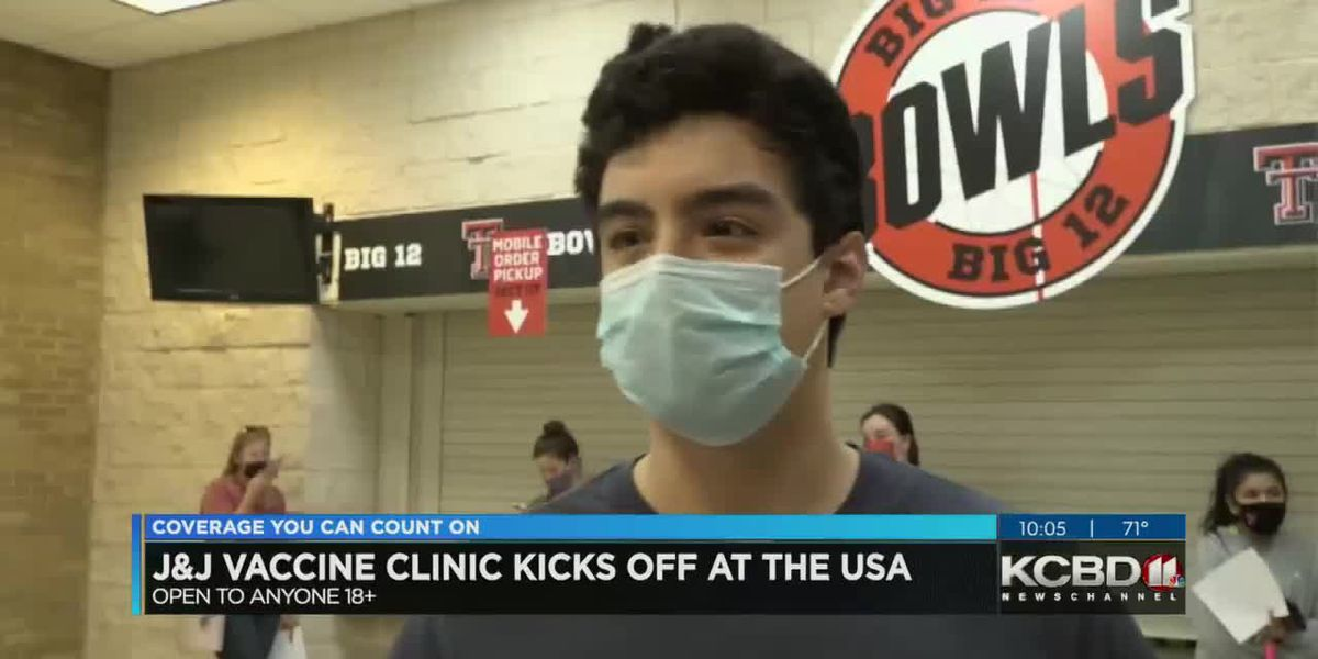 Strong turnout for first day of TTU vaccination clinic