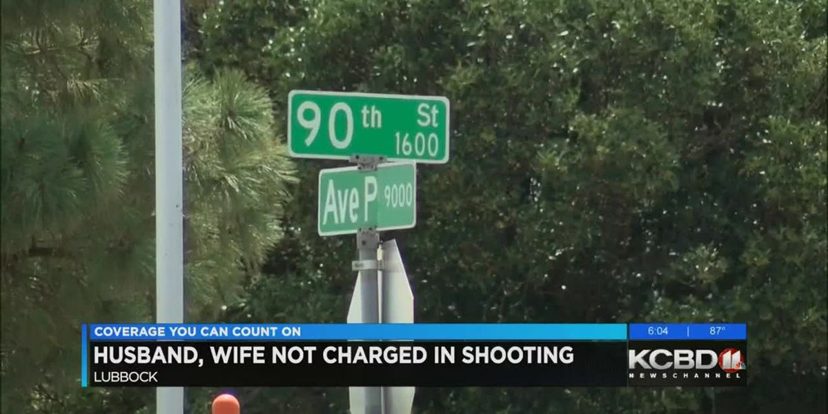 Husband, wife not charged in shooting