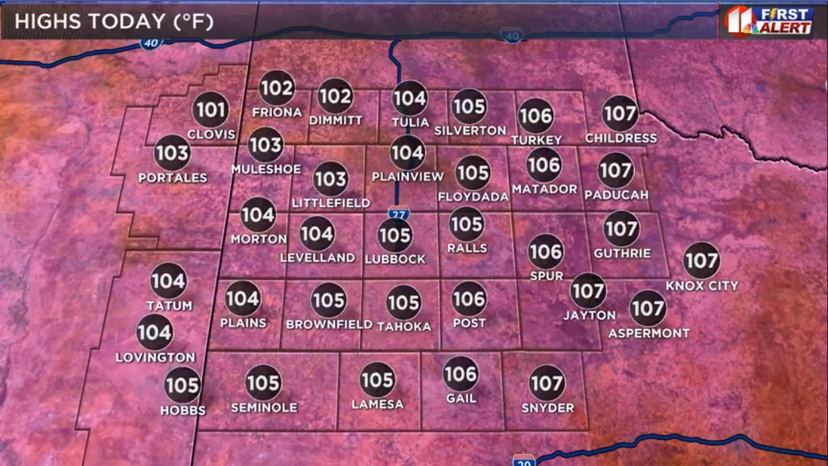 HEAT ADVISORY issued for entire KCBD area