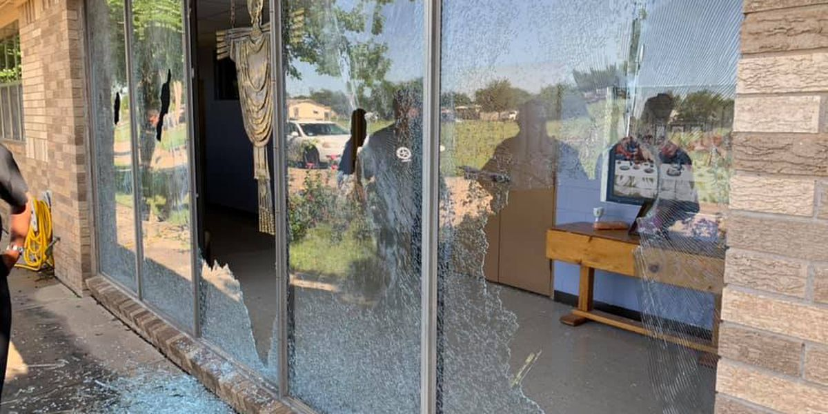 Sacred Heart in Plainview asking for public help after church windows broken by vandals