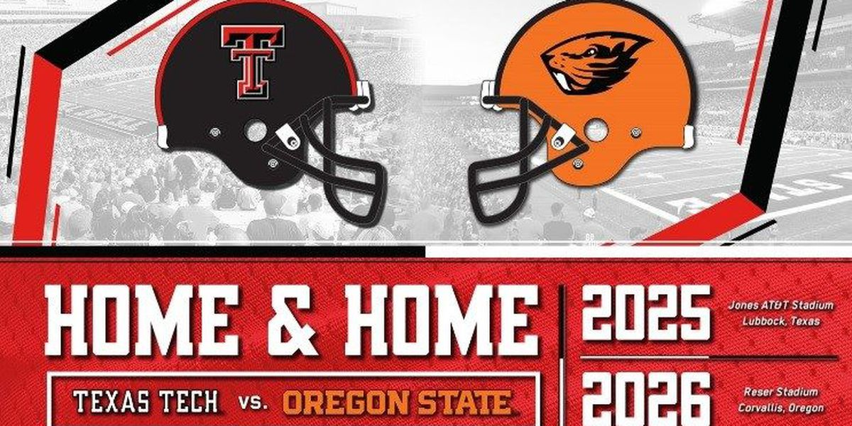Texas Tech Football announces two-game series against Oregon State