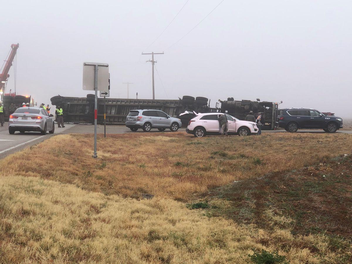 Semi-RV crash causes pile-up near Southland