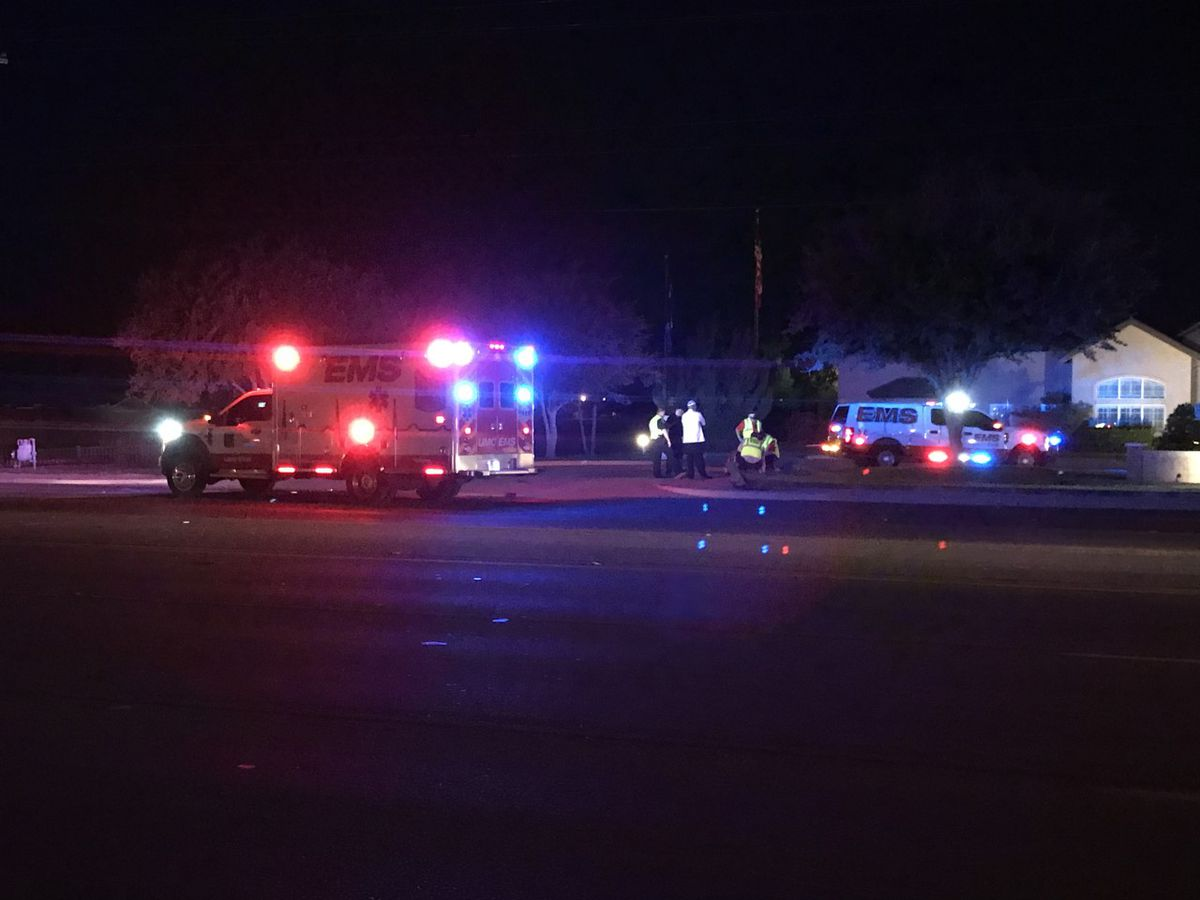 Emergency crews responding to car vs pedestrian at 88th and University; one with serious injuries