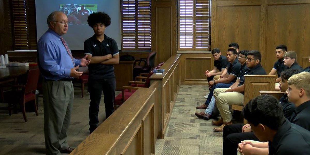 District judge takes time to mentor Lubbock High football players