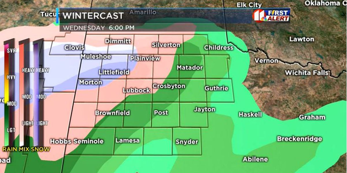 Winter Weather Advisory remains in effect for areas on the Caprock through noon Thursday