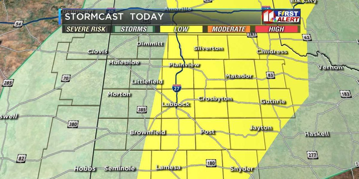 Severe storms possible Friday afternoon into evening hours