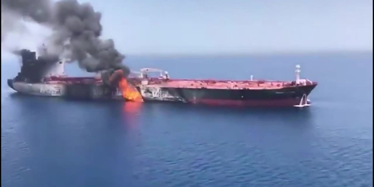US continues to blame Iran for tanker fire