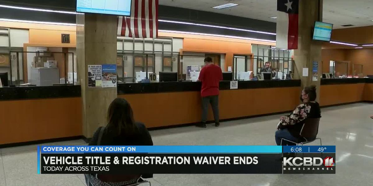 Vehicle registration waiver ends at midnight
