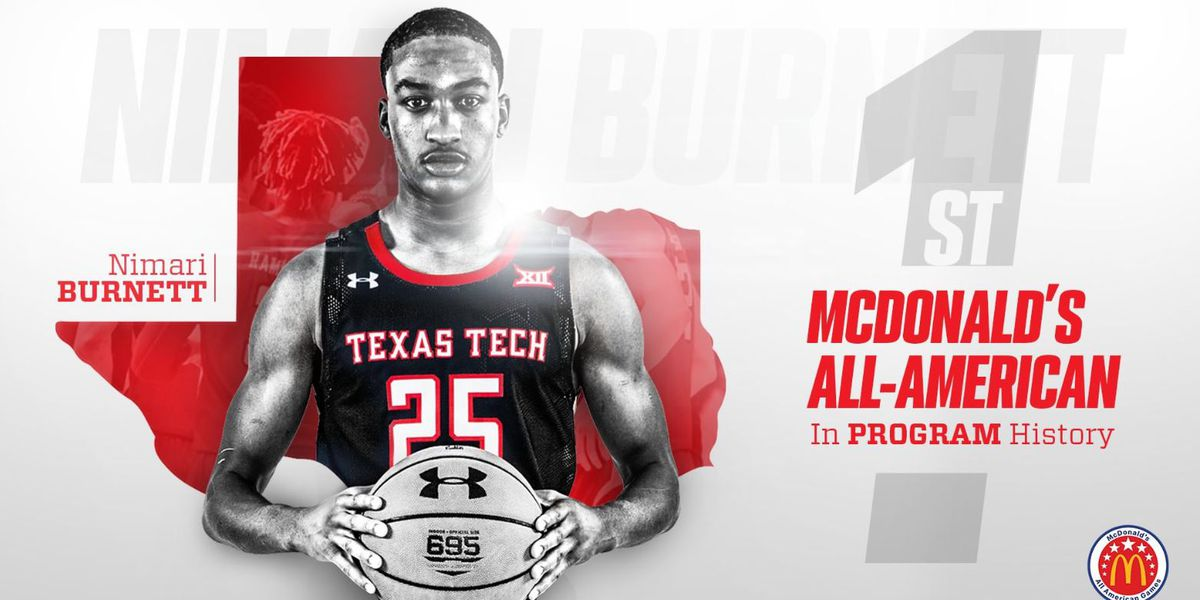 TTU commit Nimari Burnett has been selected as McDonald's All-Amerian