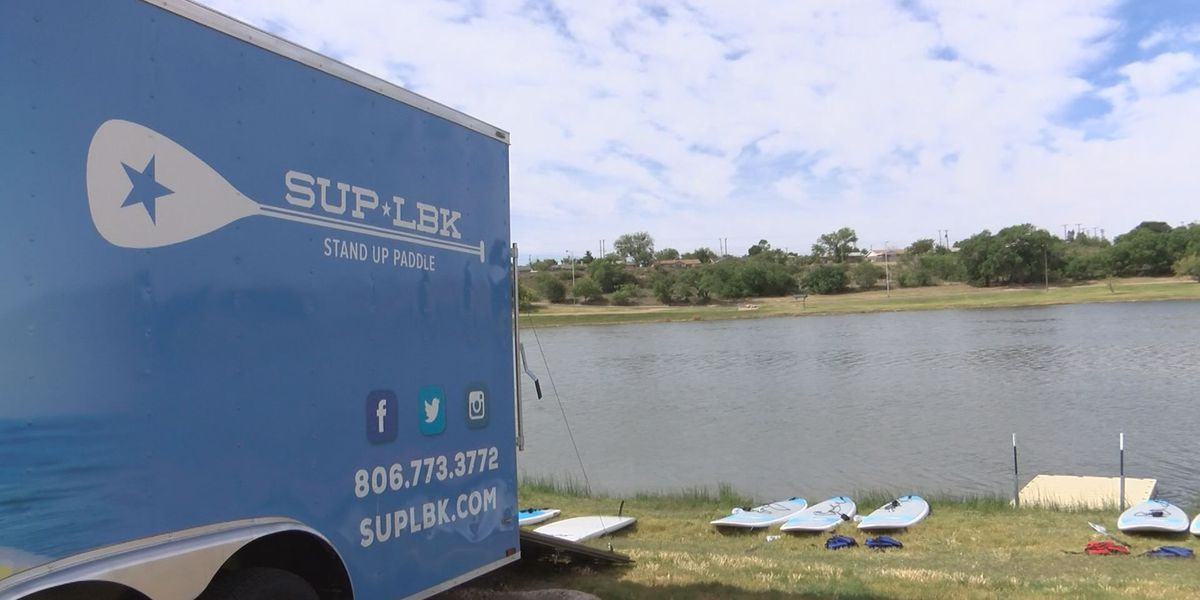Paddle board business brings new concept to City of Lubbock lakes, encouraging residents to get outdoors this summer