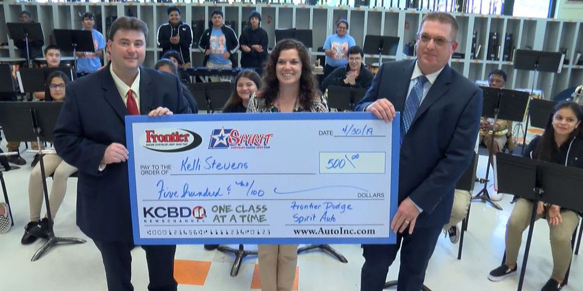 One Class At A Time: Atkins Middle School band director, Communities in Schools awarded $500