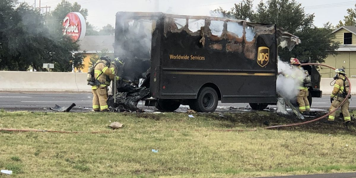 UPS truck fire causes morning traffic backup on South Loop