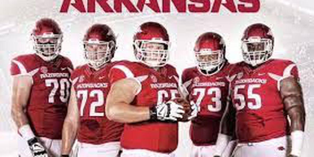 Facing The Big Arkansas Boasts Biggest O Line In College Football