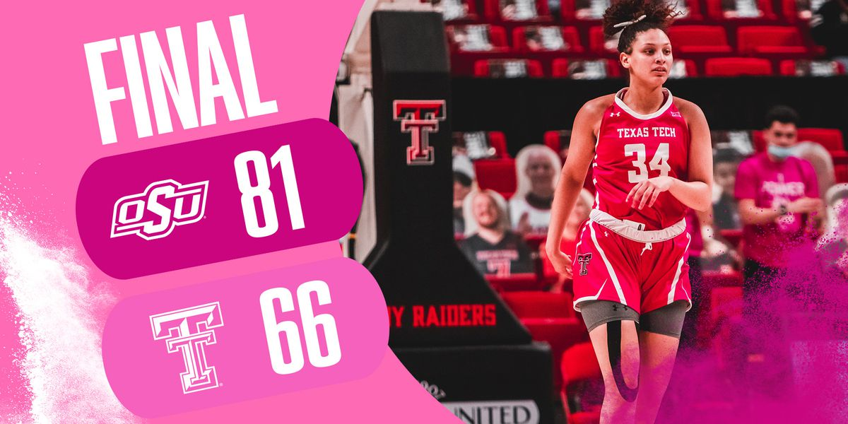 Lady Raiders fall to Oklahoma State 81-66