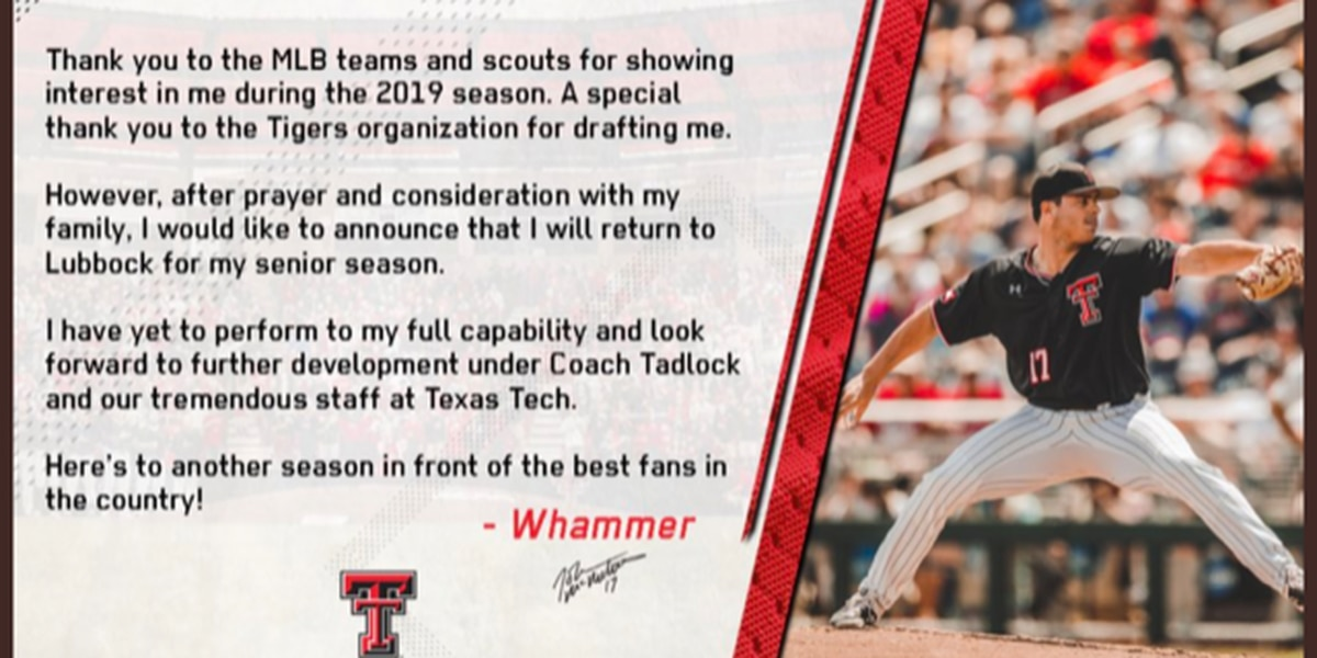 Red Raider Pitcher John McMillon to return for Senior Season