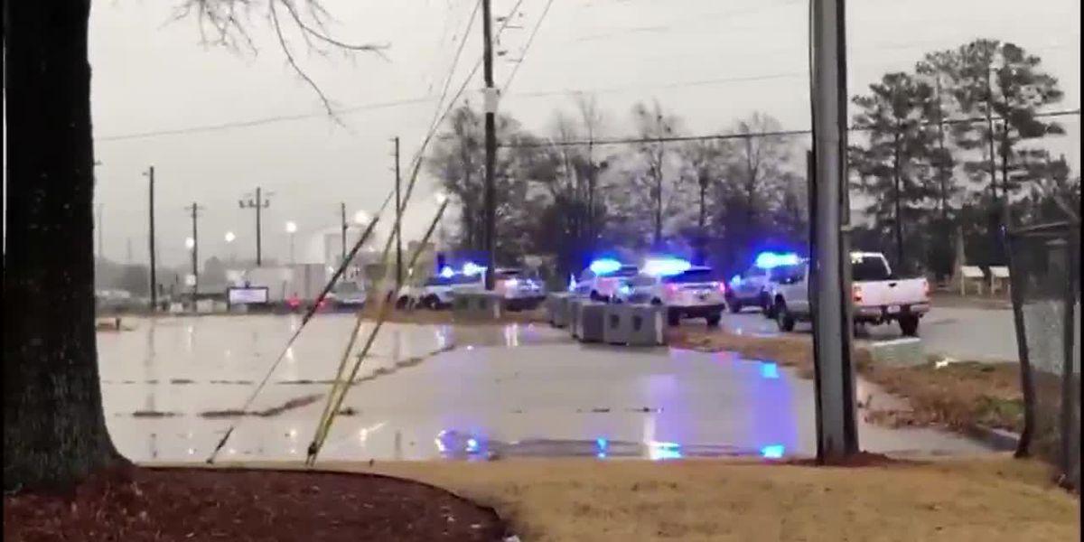 1 shot at plant outside Atlanta, building evacuated