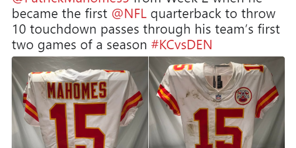 Mahomes' Chiefs jersey on display in Pro Football Hall of Fame