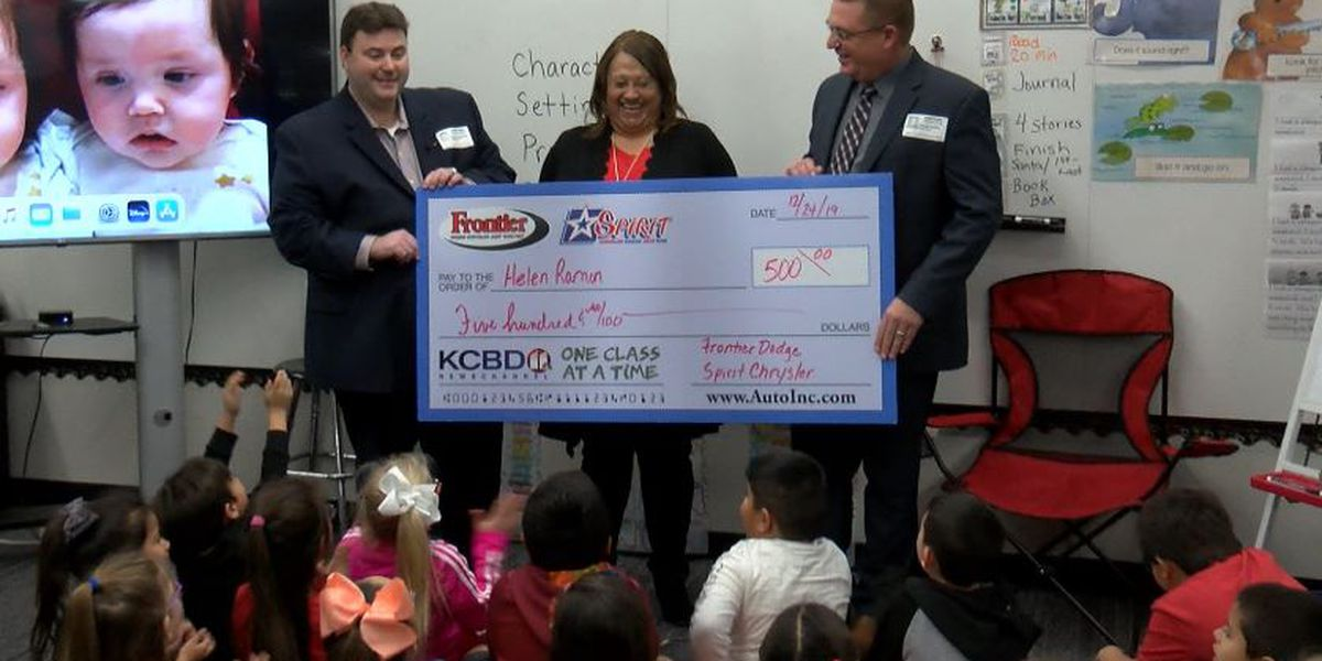 One Class At A Time: Lubbock-Cooper Elementary teacher, St. Benedict's Chapel awarded $500
