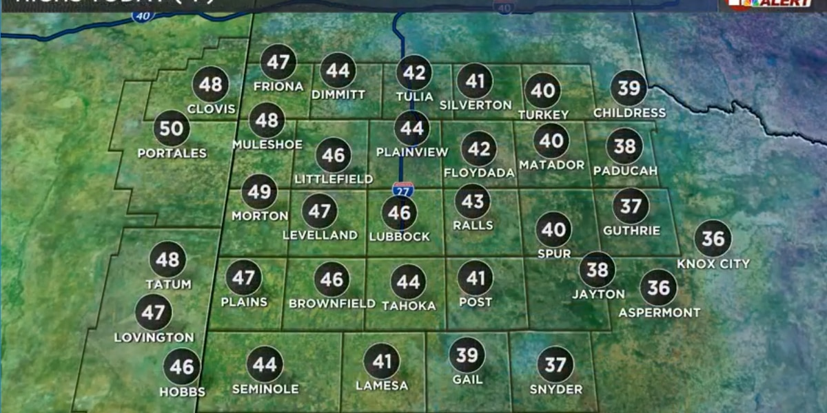 Above freezing today, warmer weekend